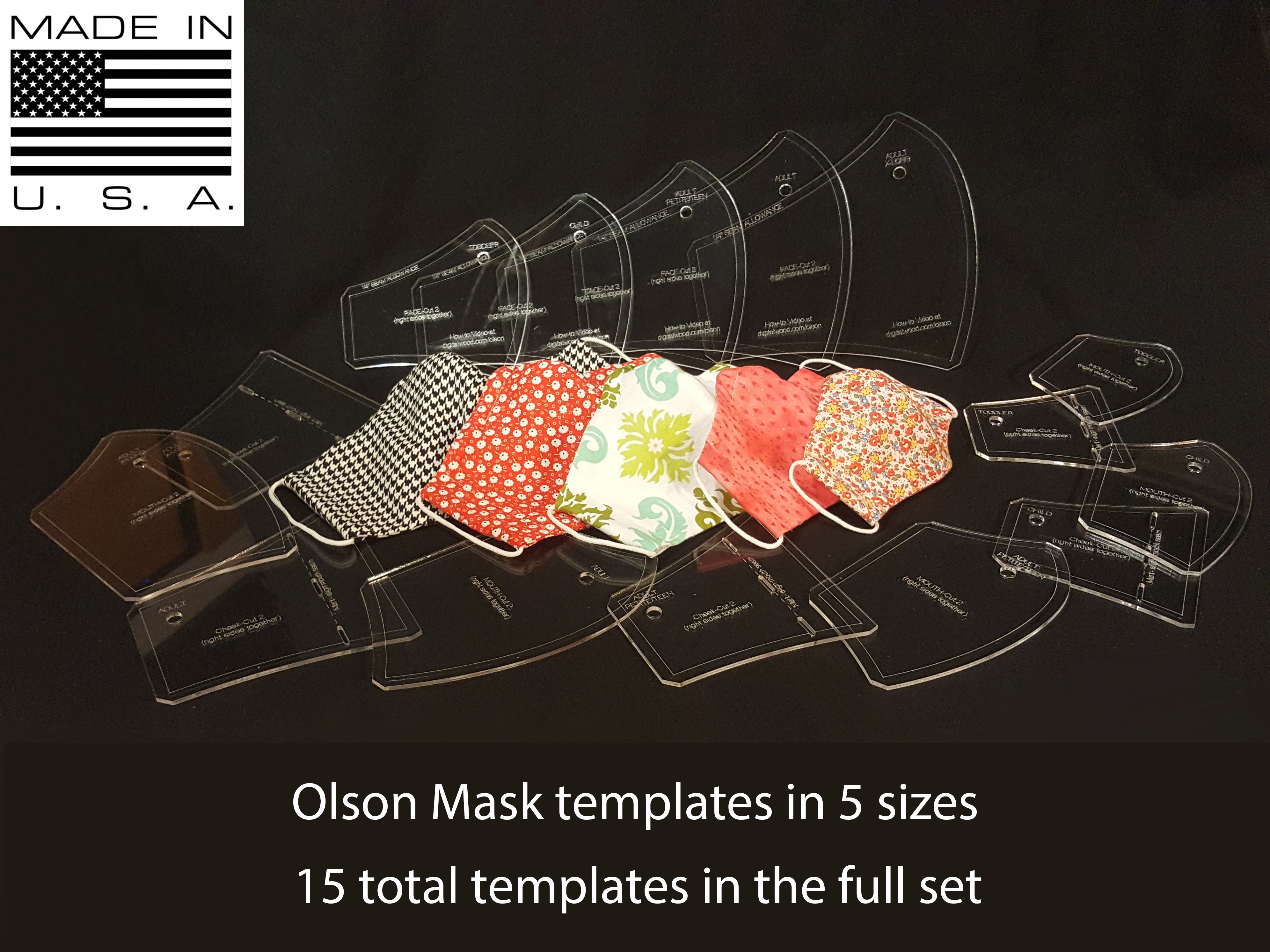 Olson Face Mask Templates